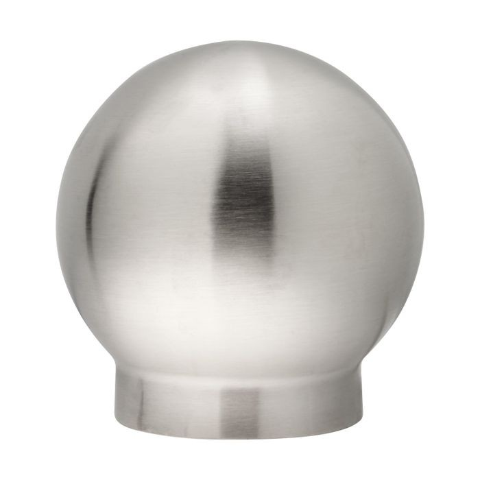 2in Dia x 3-3/8in H | Satin Stainless Steel Finish | Ball Fitting | Style SSF2-199