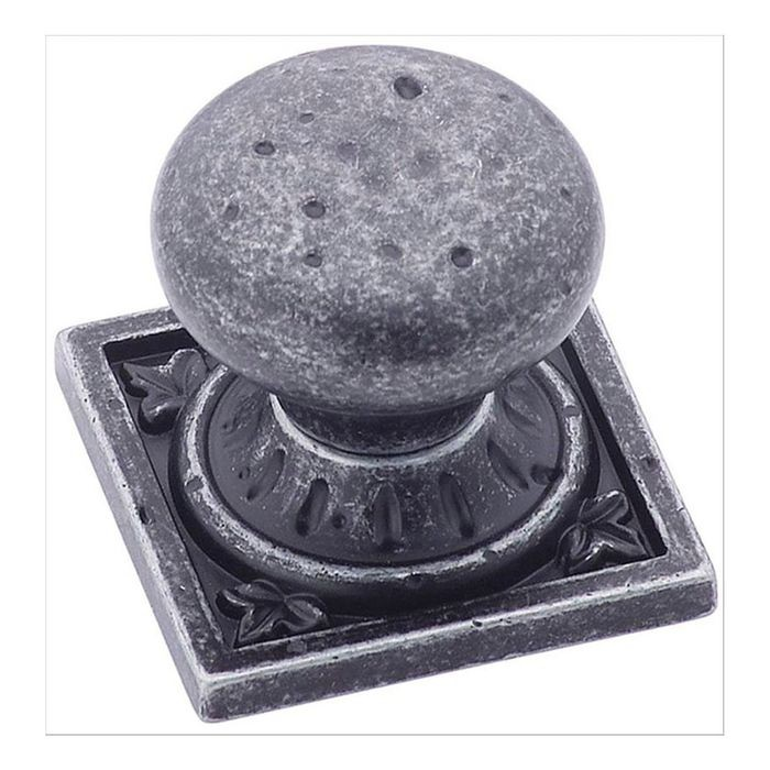 "1 1/2"" Square Knob Wrought Iron Dark"