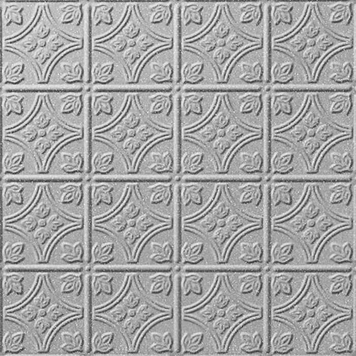 FlexLam 3D Wall Panel | 4ft W x 10ft H | Savannah Pattern | Argent Silver Finish