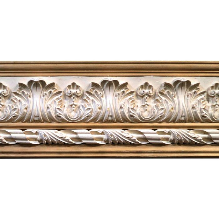 10in H x 1-1/2in Proj | Unfinished Polymer Resin | 480-B Series with Bottom Style 4 | Frieze Moulding | 5ft Long