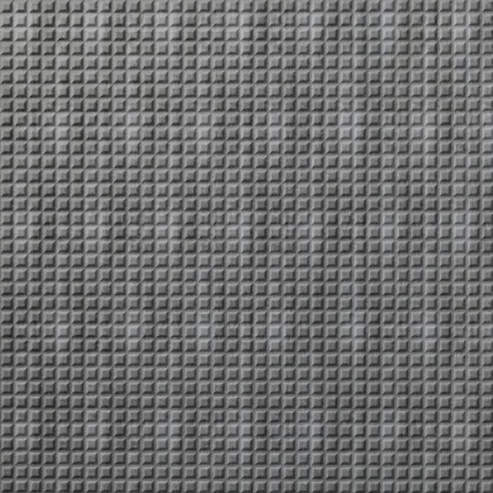 FlexLam 3D Wall Panel | 4ft W x 10ft H | Square 5 Pattern | Crosshatch Silver Finish