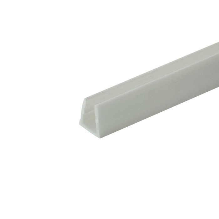 "1/4"" White Rigid Styrene U Channel Moulding 12' Length"