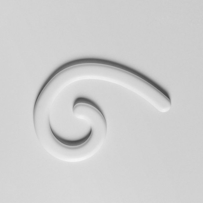 Orac Decor | High Density Polyurathane | 3D Decorative Element | Left Mini Curl Wall Element | Primed White | 7-7/8in H x 7-1/8in W