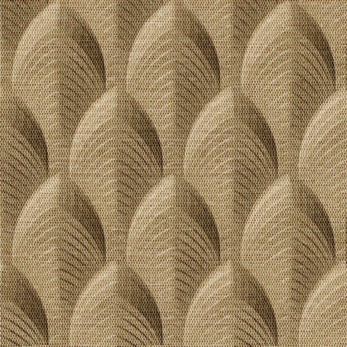 10' Wide x 4' Long South Beach Pattern Linen Beige Finish Thermoplastic Flexlam Wall Panel