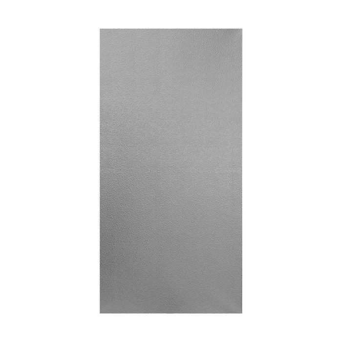 10' Wide x 4' Long Hammered Pattern Brushed Aluminum Finish Thermoplastic Flexlam Wall Panel