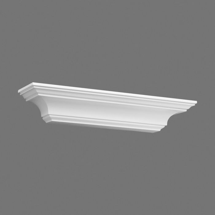 Orac Decor High Density Polyurethane Corbel, Primed White. Height: 3-1/8""