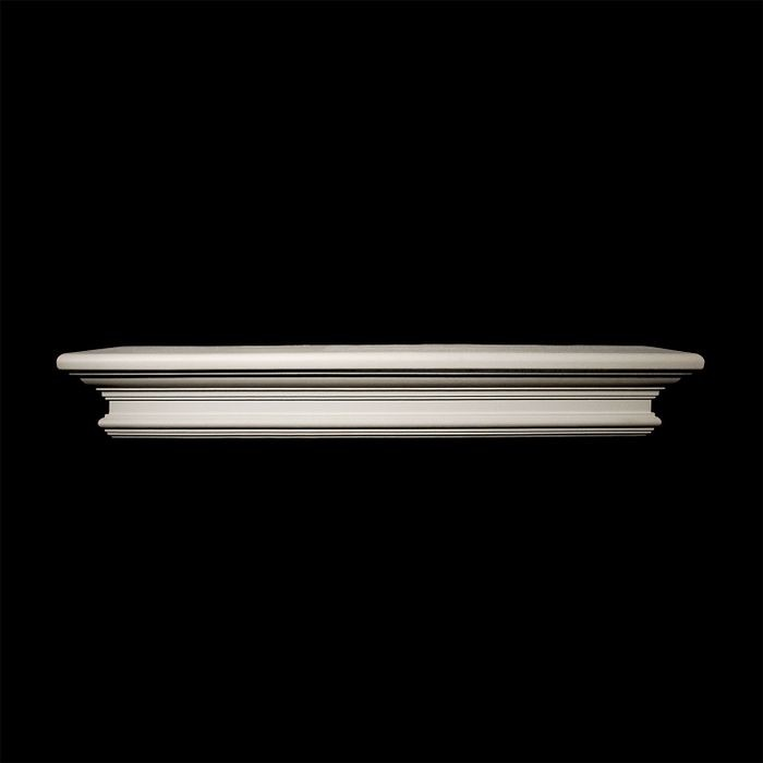 "10' Wide x 5-1/4"" High Unfinished Polymer Resin Moulding Applique"