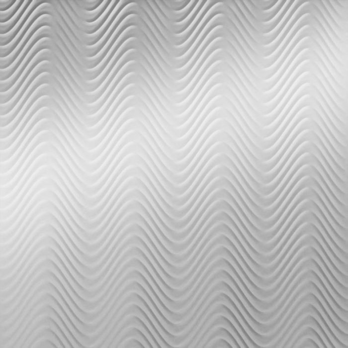 10' Wide x 4' Long Curves Pattern Mirror Finish Thermoplastic Flexlam Wall Panel