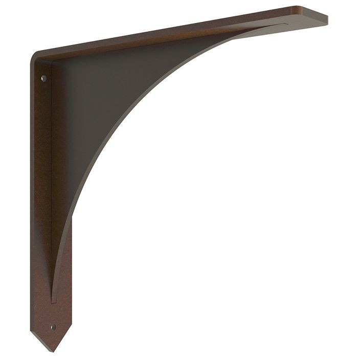 "10"" High x 10"" Deep Powder Coated Bronze Low Profile Stainless Steel Countertop Support Bracket"