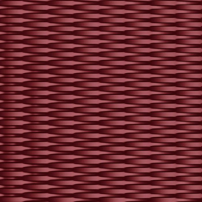 10' Wide x 4' Long Interlink Pattern Merlot Finish Thermoplastic Flexlam Wall Panel