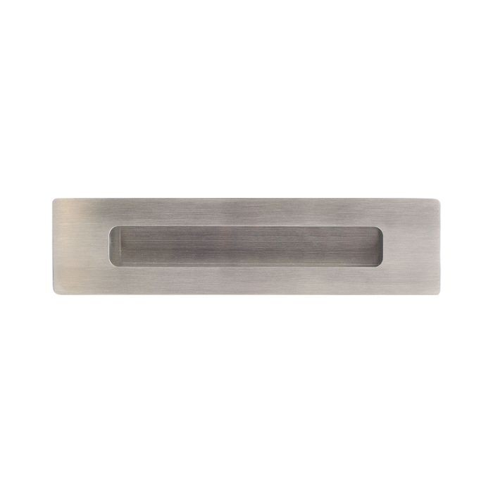 "1 15/16"" X 7 7/8"" Brushed Stainless Recessed Door Pull"