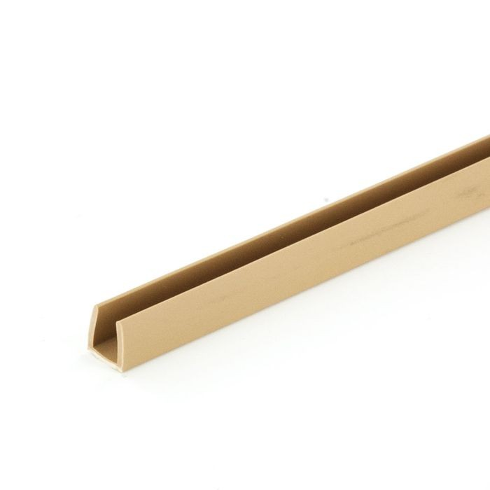 "1/4"" Beige Rigid Styrene U Channel Moulding 12' Length"