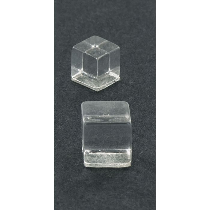 "1"" Clear Acrylic Crystal Square Series Invisi Standoff"