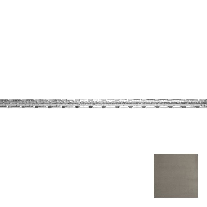 Tin Plated Stamped Steel Cornice | 1-1/2in H x 1-1/2in Proj | Antique Pewter Finish | 4ft Long