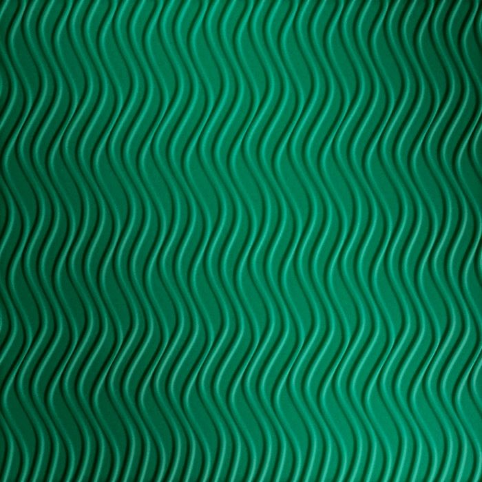 FlexLam 3D Wall Panel | 4ft W x 10ft H | Wavation Pattern | Mirror Green Vertical Finish