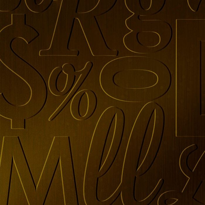 10' Wide x 4' Long Alphabet Soup Pattern Oil Rubbed Bronze Finish Thermoplastic Flexlam Wall Panel