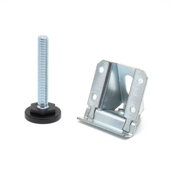 2-1/8in H x 2-1/8in W | Corner and Support Brace with M10 x 2-1/2in Long Threaded Stem Leveler