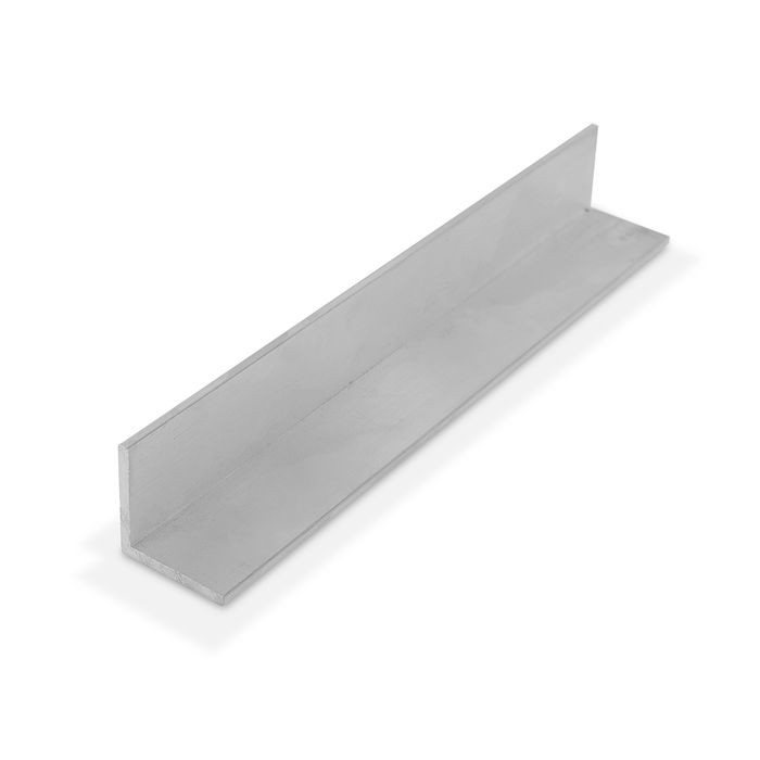 1-1/4in x 1-1/4in x 1/8in Thick | Mill Finish Aluminum Even Leg | 90° Angle Moulding | 12ft Length