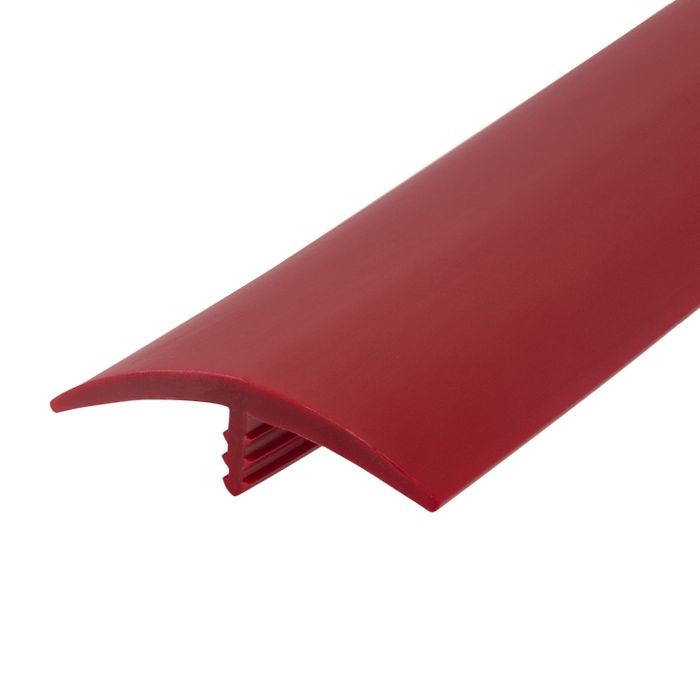 1-1/2in 324 Red Flexible Polyethylene | Center Barb Tee Moulding | 250ft Coil