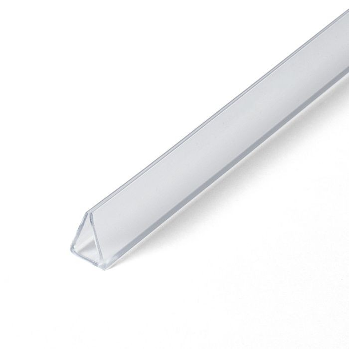 1/4in | Clear PVC Clamp Moulding | 8ft Length