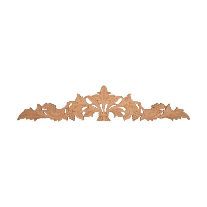 12in W x 2-1/2in H | Hand Carved | Solid North American Cherry | Cartouche Applique | RWC20 Series