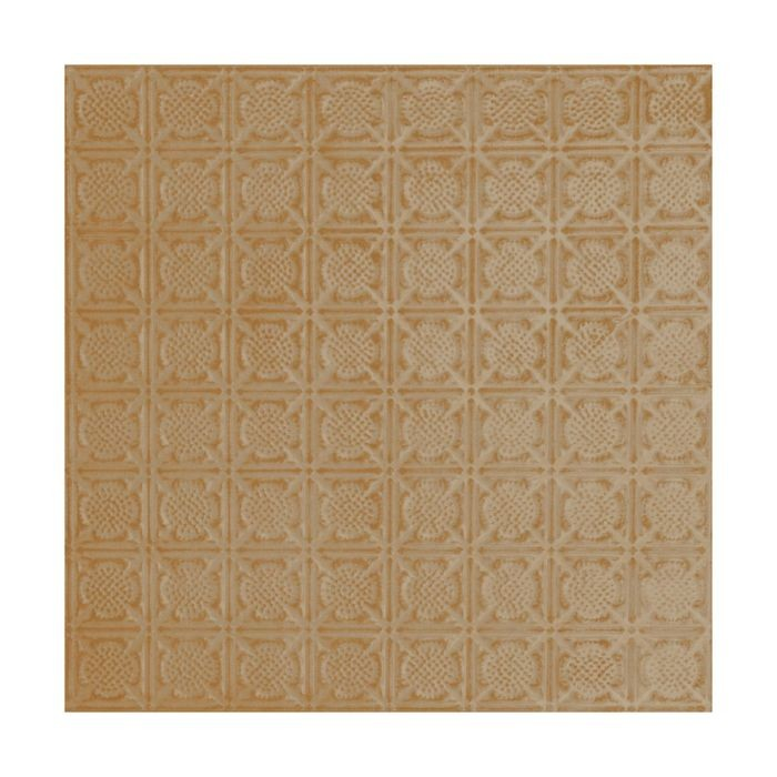 Tin Plated Stamped Steel Ceiling Tile | Lay In | 2ft Sq | Concord Ivory Finish