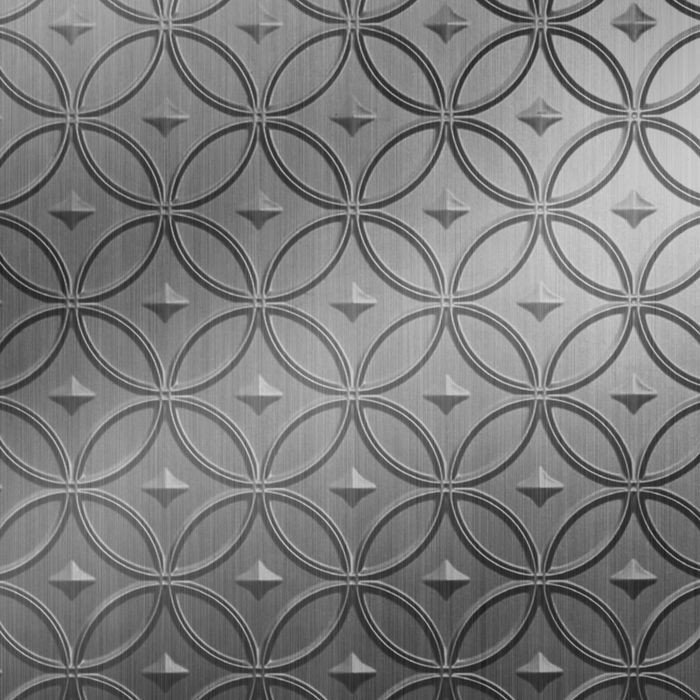 FlexLam 3D Wall Panel | 4ft W x 10ft H | Celestial Pattern | Brushed Stainless Finish