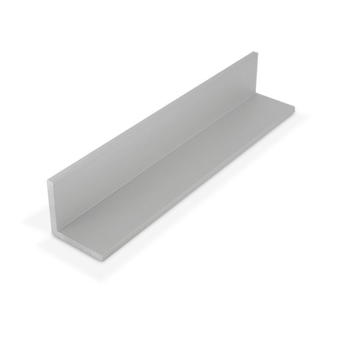 1-1/2in x 1-1/2in x 3/16in Thick | Clear Anodized (Satin) Finish Aluminum Even Leg | 90° Angle Moulding | 12ft Length
