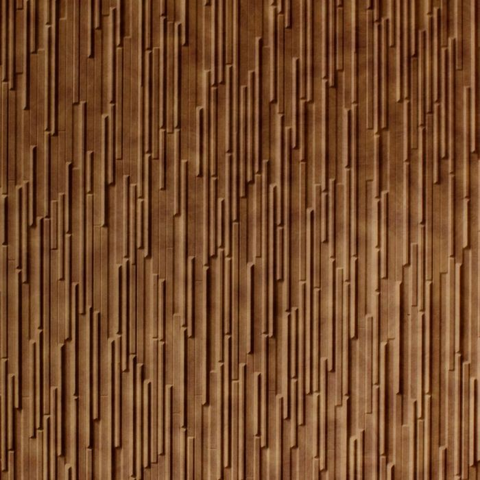 10' Wide x 4' Long Glacier Pattern Antique Bronze Finish Thermoplastic FlexLam Wall Panel