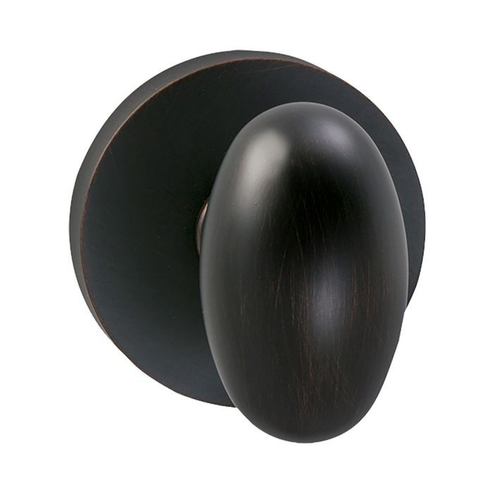 Tuscan Bronze Modern Rose Backplate Interior Single Dummy Knob Latchset