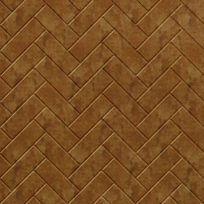 10' Wide x 4' Long Herringbone Pattern Muted Gold Finish Thermoplastic Flexlam Wall Panel
