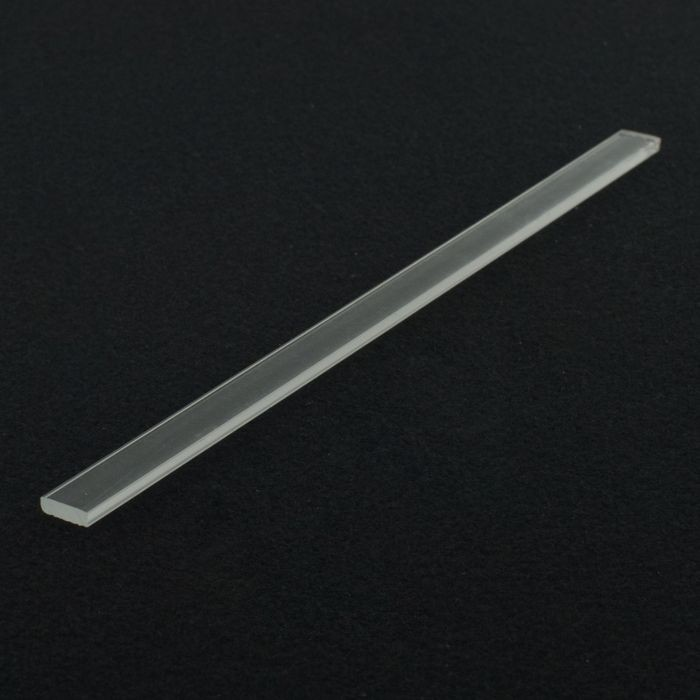1/8in x 3/8in | Clear Acrylic Rectangular Bar | 6ft Length