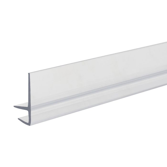 "1/4"" x 3/4"" High Clear Butyrate Shelf Guard Edge Retainer 5' Length"