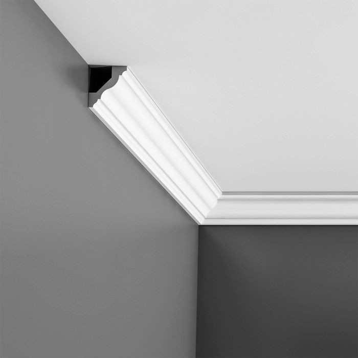 Orac Decor | High Impact Polystyrene Crown Moulding | Primed White | CX110 Series