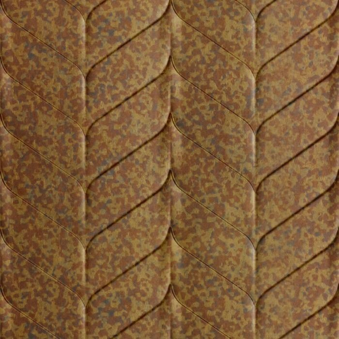 10' Wide x 4' Long Ariel Pattern Cracked Copper Finish Thermoplastic Flexlam Wall Panel