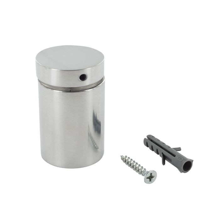 "1-1/4"" Diameter x 1-1/2"" Barrel Length Polished Brass Finish Premium Aluminum Series Secure Fasten Standoff"
