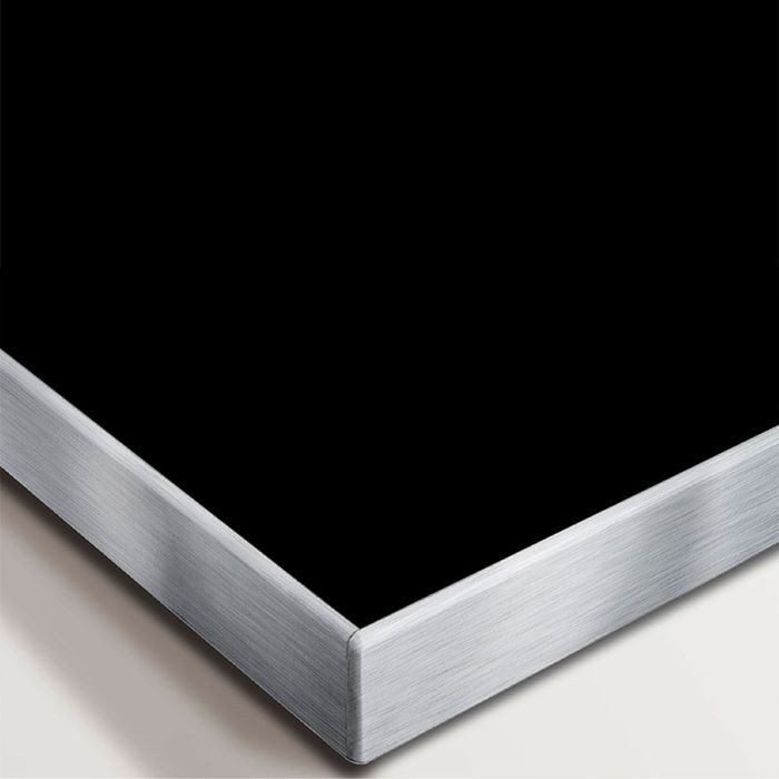 "1"" Wide x .020"" Thick Brushed Chrome Finish Metal Like Decorative Trim with Adhesive 250' Coil"