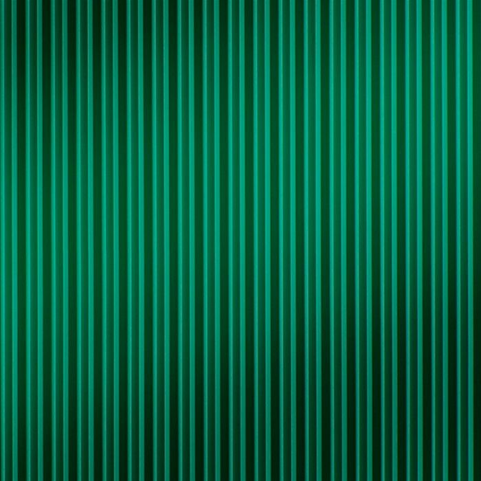 10' Wide x 4' Long Ridges Pattern Mirror Green Finish Thermoplastic Flexlam Wall Panel