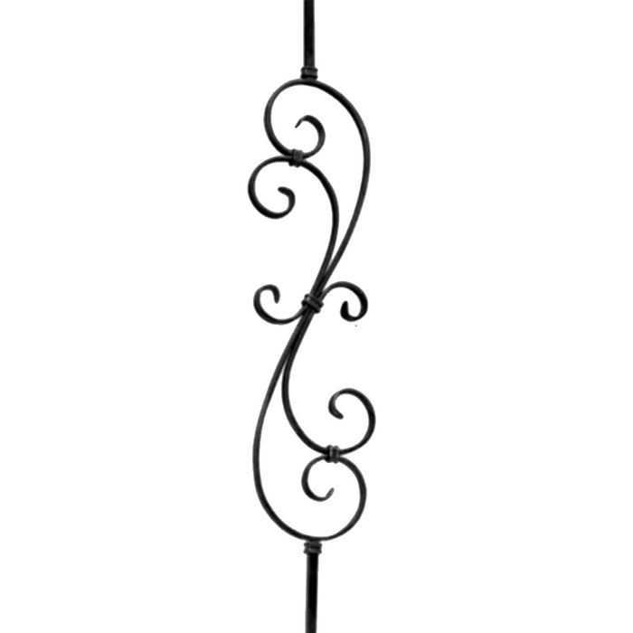"Mtl.1/2"" Square  7 5/16""W X 39 1/2""H Curved Baluster"
