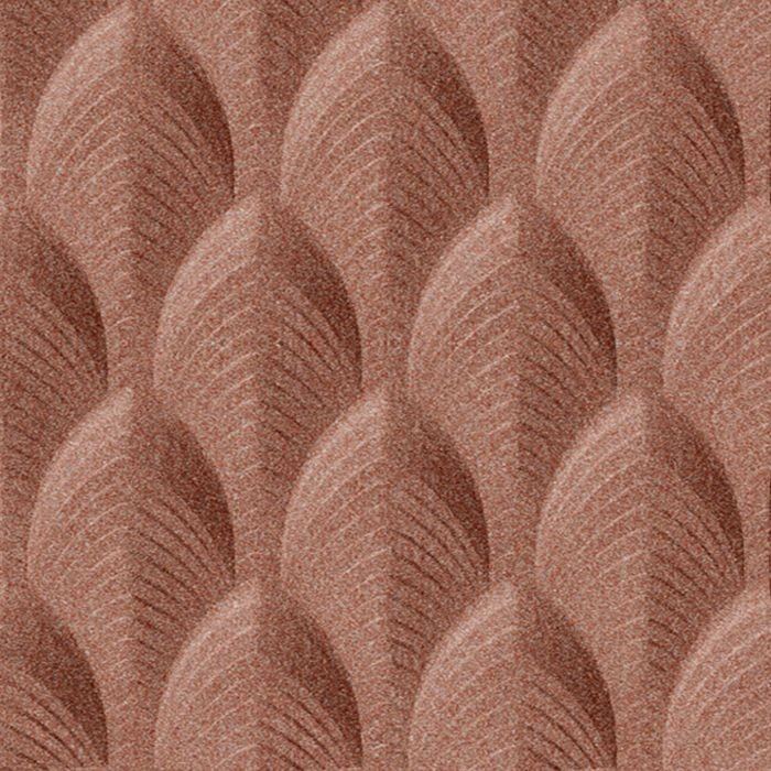 FlexLam 3D Wall Panel | 4ft W x 10ft H | South Beach Pattern | Argent Copper Finish