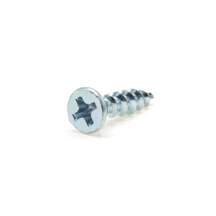 "#5 x 5/8"" Zinc Finish Phillips Drive Flat Head Screw"
