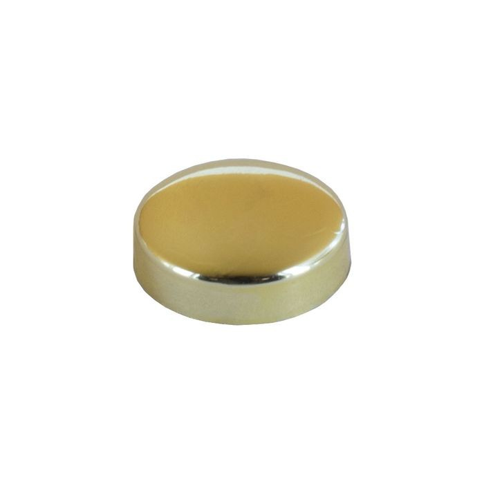 ".700"" Brass Finish Polypropylene Pop-On Screw Cover"