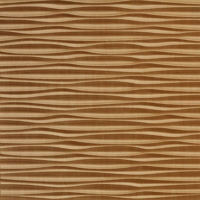 10' Wide x 4' Long Sahara Pattern Light Maple Finish Thermoplastic Flexlam Wall Panel