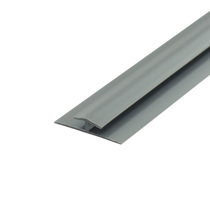 1/8in Silver Rigid PVC | Divider Moulding | 8ft Length