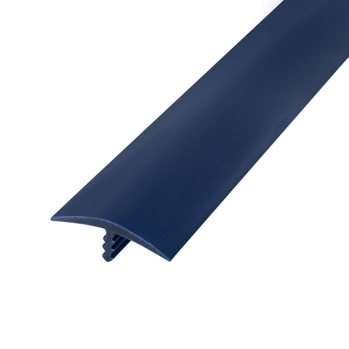 1-1/8in 131 Blue Flexible Polyethylene | Center Barb Tee Moulding | 250ft Coil