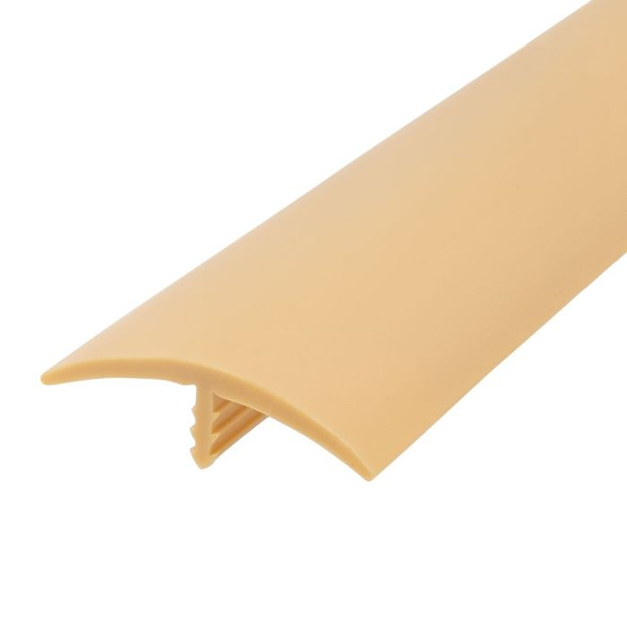 1-1/2in 579 Light Tan Flexible Polyethylene | Center Barb Tee Moulding | 250ft Coil
