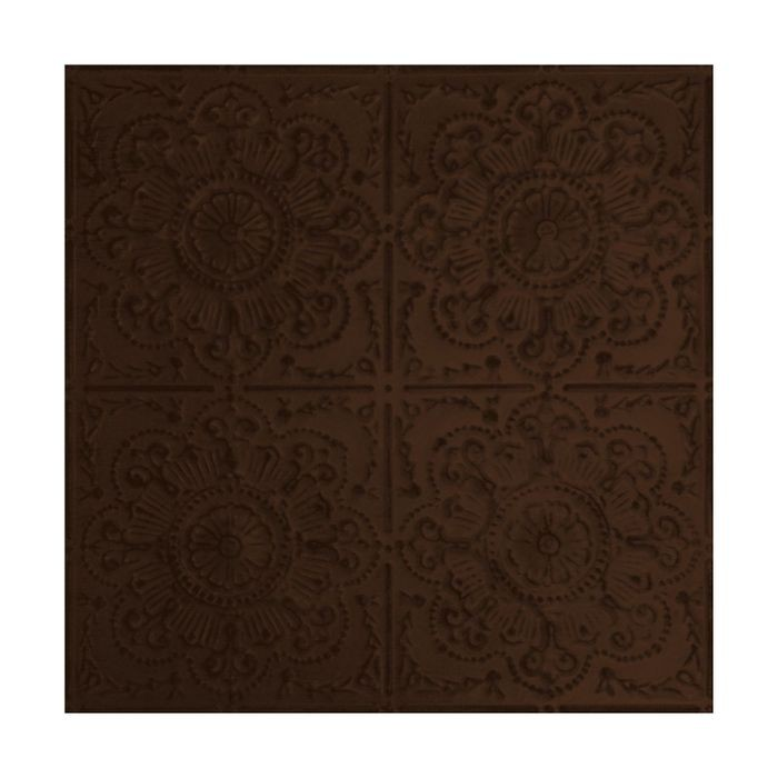 Tin Plated Stamped Steel Ceiling Tile | Nail Up/Glue Up Ceiling Tile | 2ft Sq | Antique Coco Finish