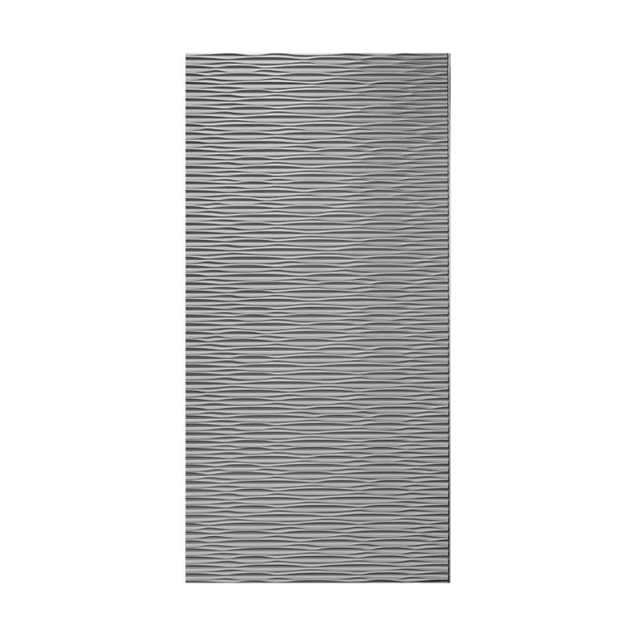 10' Wide x 4' Long Sahara Pattern Crosshatch Silver Finish Thermoplastic Flexlam Wall Panel