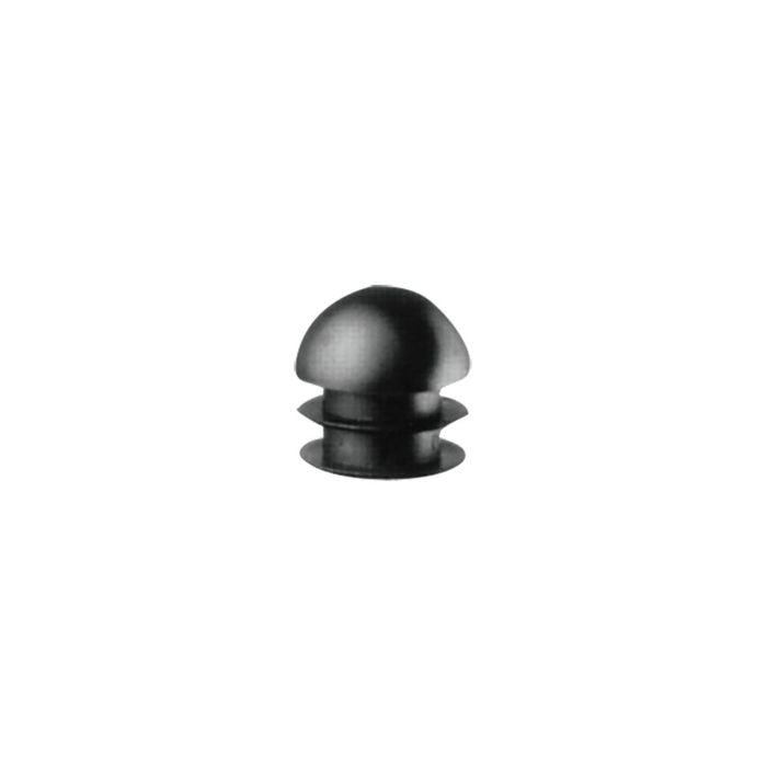 "1"" Diameter 14 - 23 Gauge Black Matte Finish Low Density Polyethylene Plastic Universal Gauge Inside End Cap for Tubing"