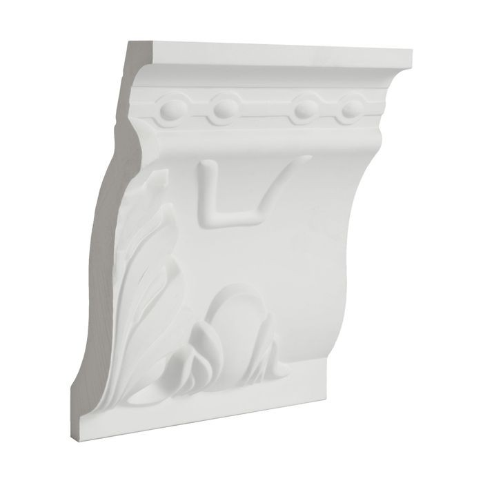 10in Face x 9in H x 3-7/8in Proj | Primed White Polyurethane | Crown Moulding | 6in Sample Piece
